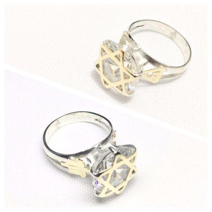 Anel de Ninfa Clássico ( Estrela de Ouro )
