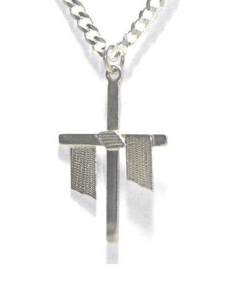 Pingente cruz Doutrinador – Prata
