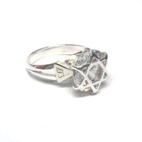 Anel de Ninfa Clássico ( Pedra Cristal )