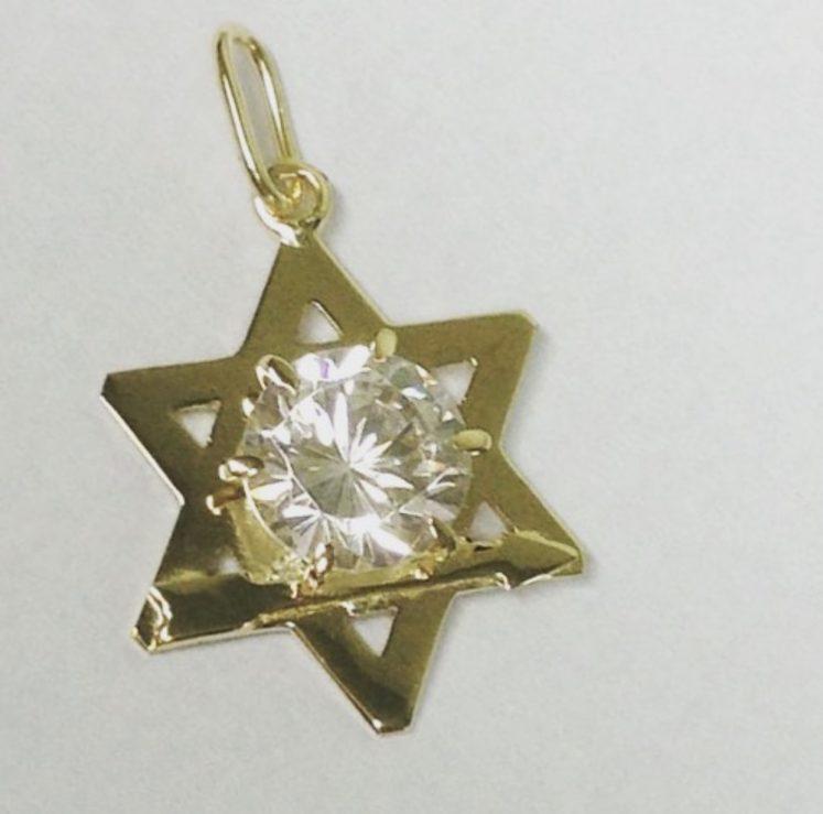 Estrela de Davi com seta – Ouro