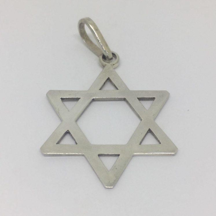Pingente Estrela de Davi vazada – prata