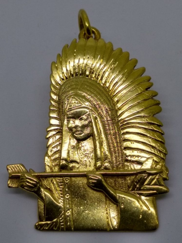 Pingente Pai Seta Branca – ouro