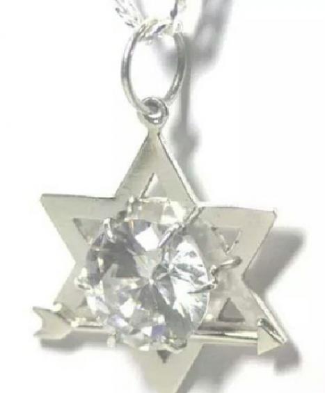 Estrela de Davi com Zircônia em prata